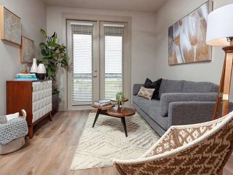 Wood Floor Living Room at Kelley at Samuels Ave, Ft Worth, 76102