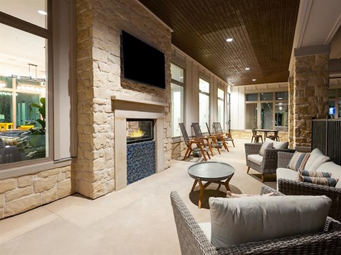 Large Clubhouse With Ample Sitting And Television at Kelley at Samuels Ave, Texas