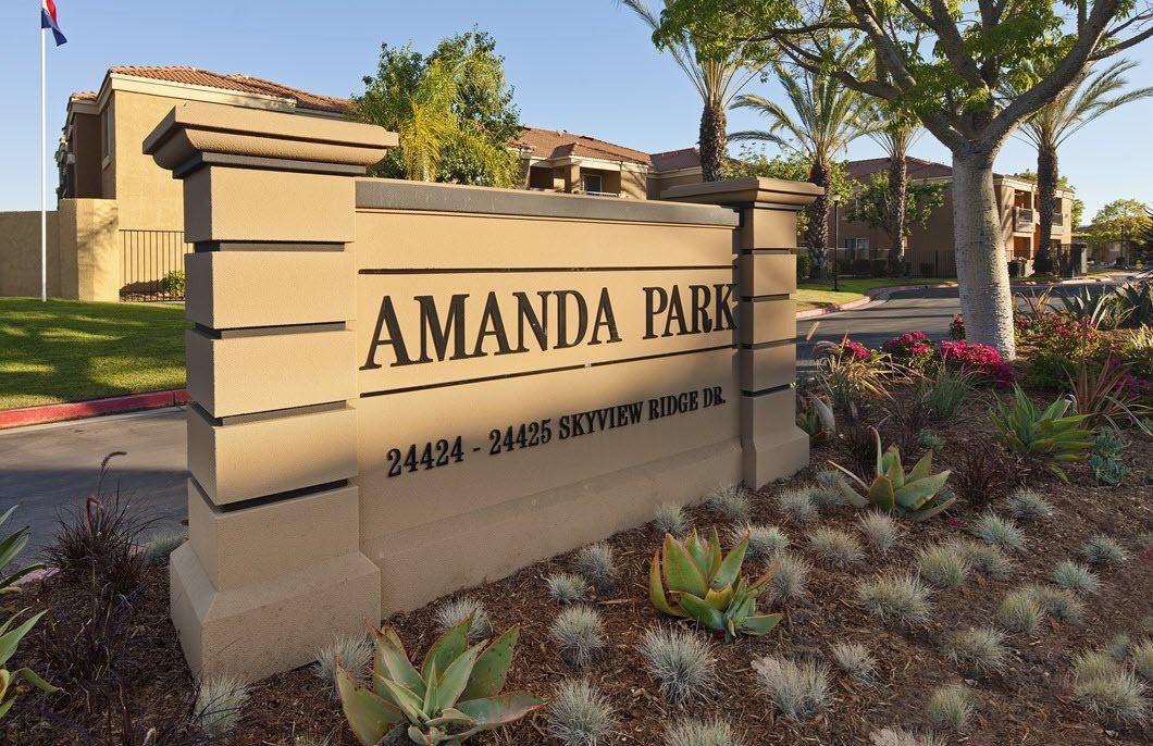 Amanda Park sign