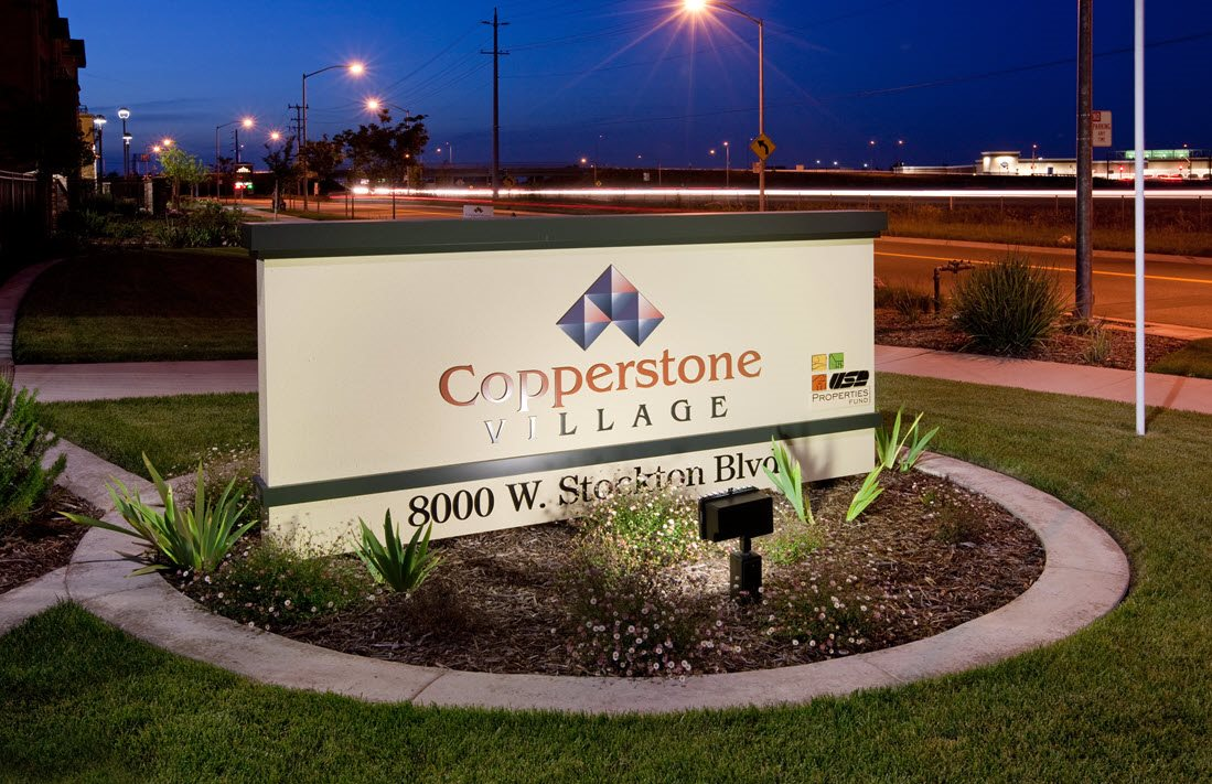 Copperstone Village sign