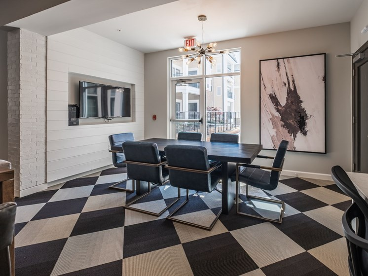 Conference Room With Tv at Abberly CenterPointe Apartment Homes by HHHunt, Virginia