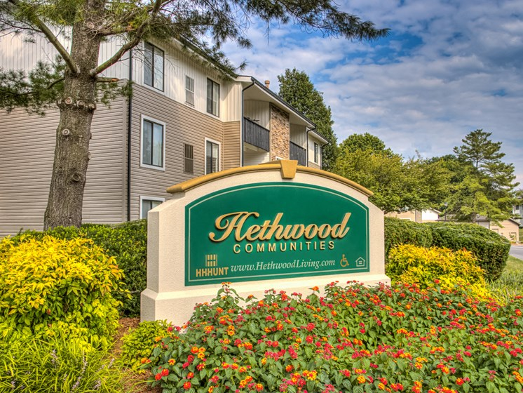 Entrance with Architectural Details at Hethwood Apartment Homes by HHHunt, Blacksburg, 24060