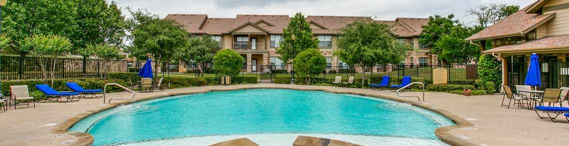 Blue Cool Swimming Pool at Huntington Ridge  Apartments,CLEAR Property Management, DeSoto, Texas