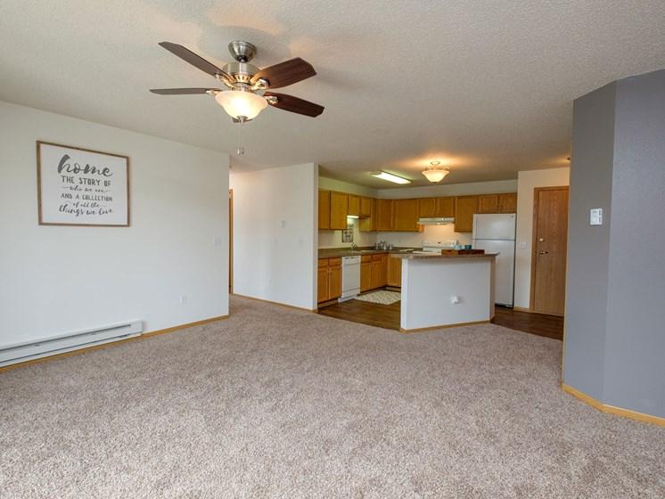 Danbury Apartments | 2 Bdrm - Living Room