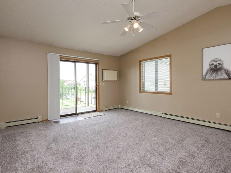 Flickertail I-VI Apartments | 2 Bdrm - Living Room