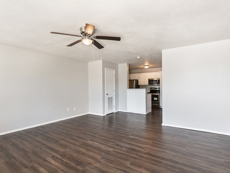 remodeled apartment with new flooring