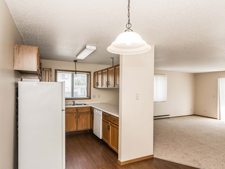 Richfield Apartments | 2 Bedroom | Kitchen & Living Room
