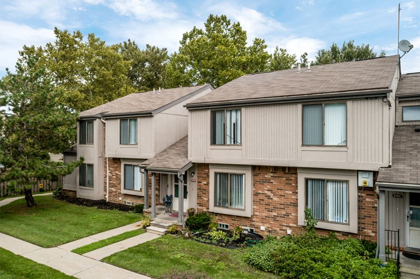 two bedroom townhouse exterior at The Village of Hyde Park