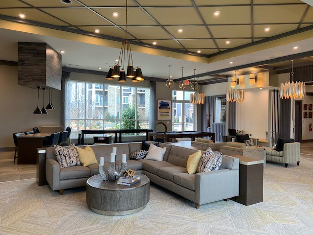 Lounge at The Haven at Rivergate apartments in Charlotte, NC 28273