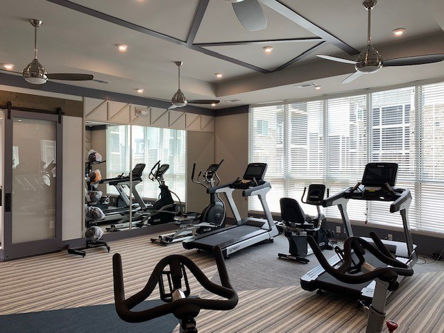 Fitness Center at The Haven at Rivergate apartments in Charlotte, NC 28273