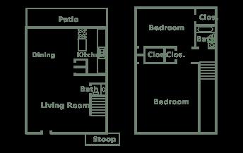 Plan B Two Bedroom