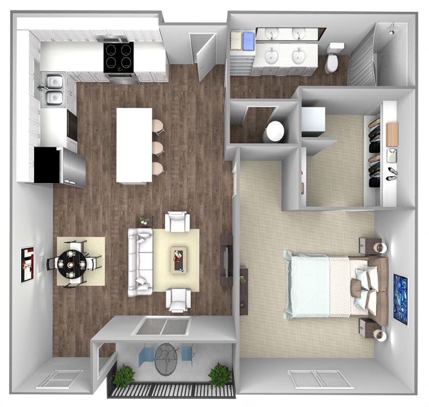 1 bedroom floorplans