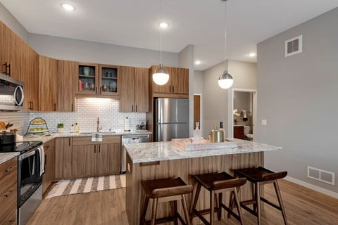 Nuvelo at Parkside Apartments in Apple Valley, MN Kitchen