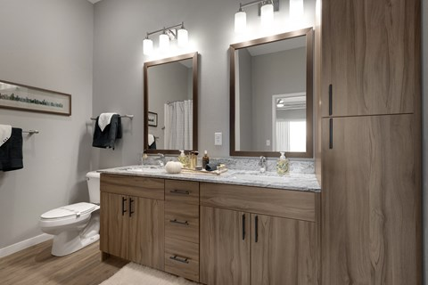 Nuvelo at Parkside Apartments in Apple Valley, MN Bathroom