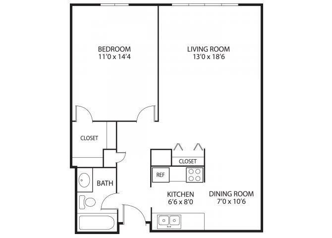 The Edina Towers Apartments in Edina, MN 1 Bedroom 1 Bath
