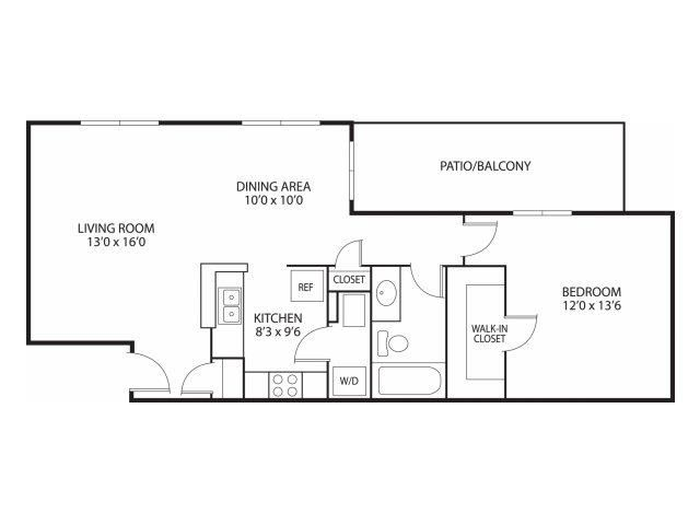 Mallard Ridge Apartments in Maple Grove, MN 1 Bedroom 1 Bathroom
