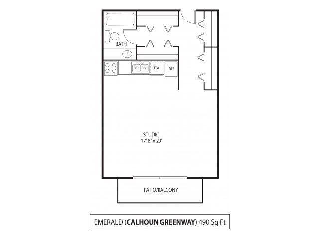 The Calhoun Greenway Apartments in Minneapolis, MN Studio