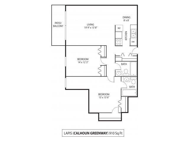 The Calhoun Greenway Apartments in Minneapolis, MN 2 Bedroom 2 Bath
