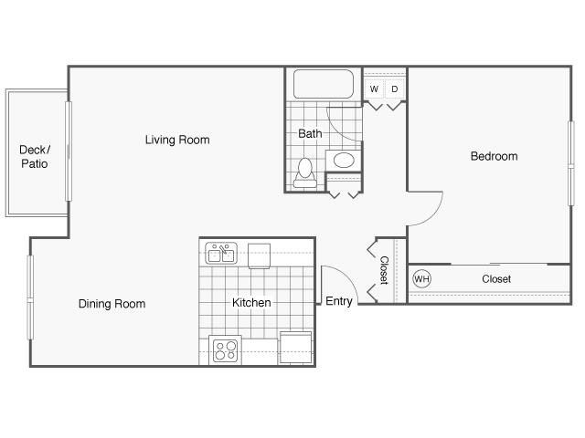 One Bedroom, One Bathroom