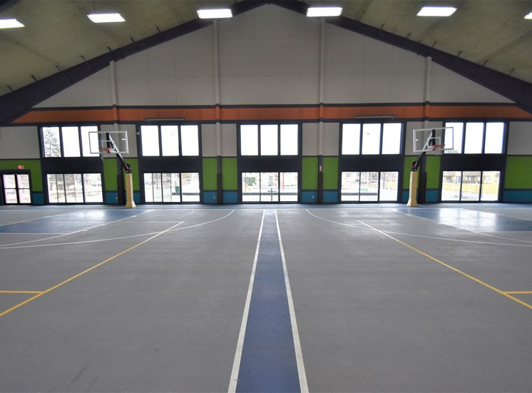 Double basketball court