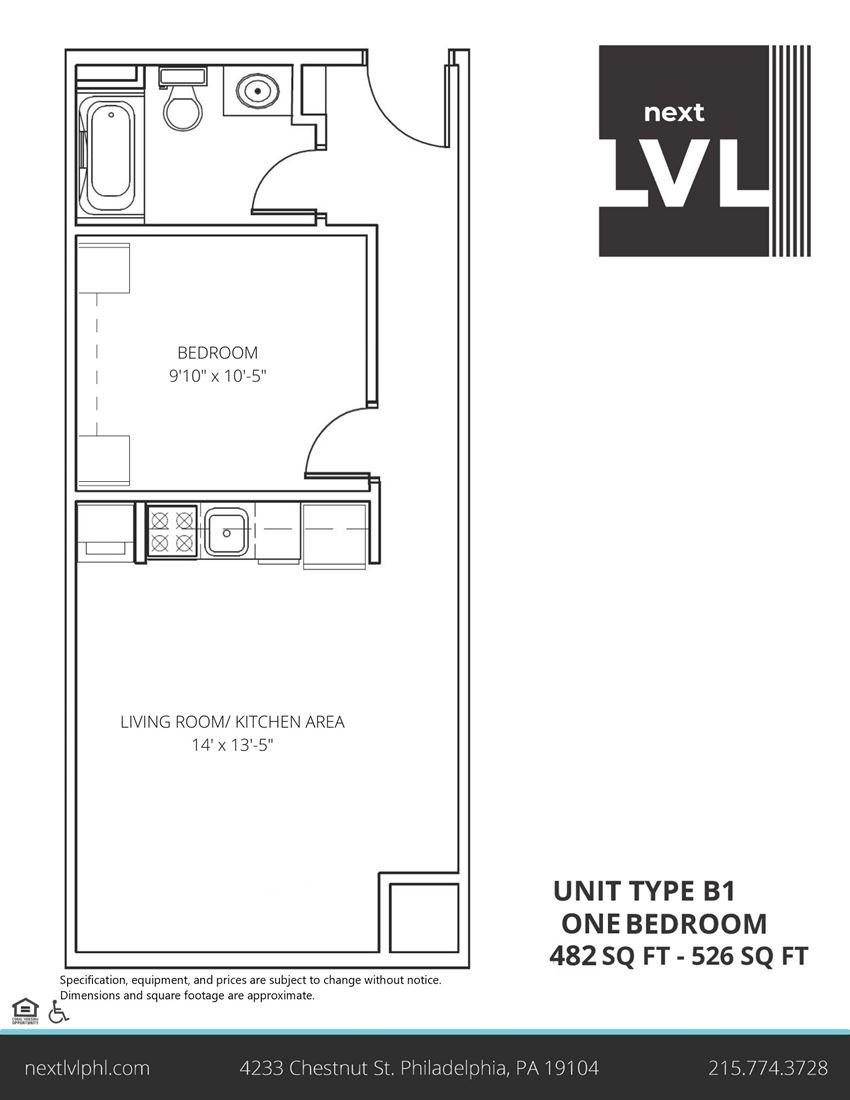Next LVL in University City Luxury Studio Apartment