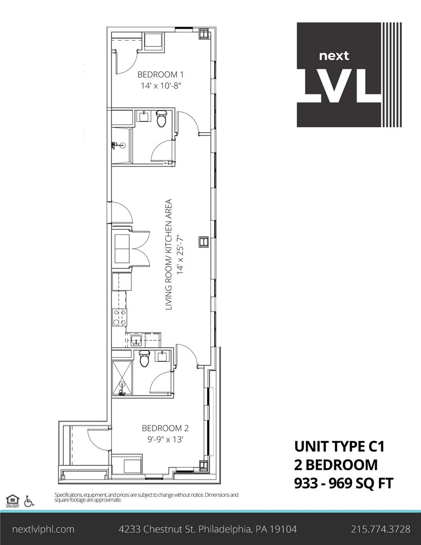Next LVL in University City Luxury Two Bedroom Apartment