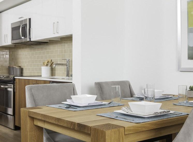 4730 California Apartments Model Dining Room
