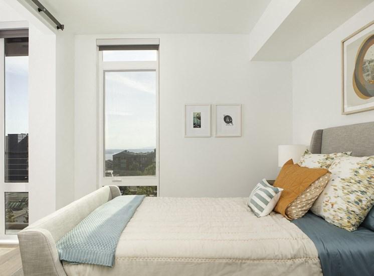 4730 California Apartments Model Bedroom and Window