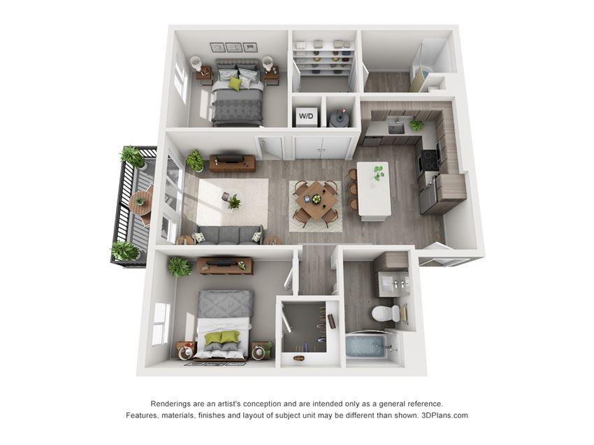 Aiya Apartments B1 Floor Plan