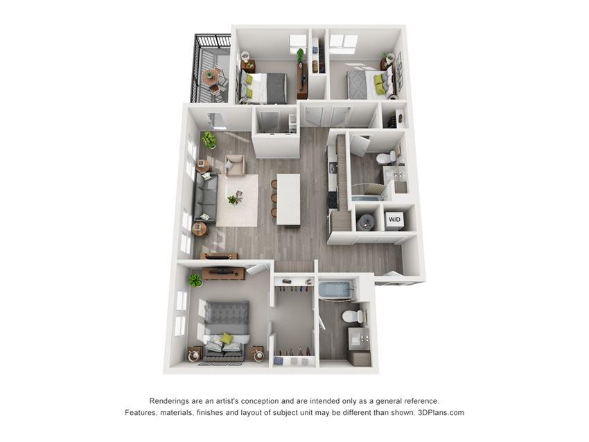 Aiya Apartments C1 Floor Plan