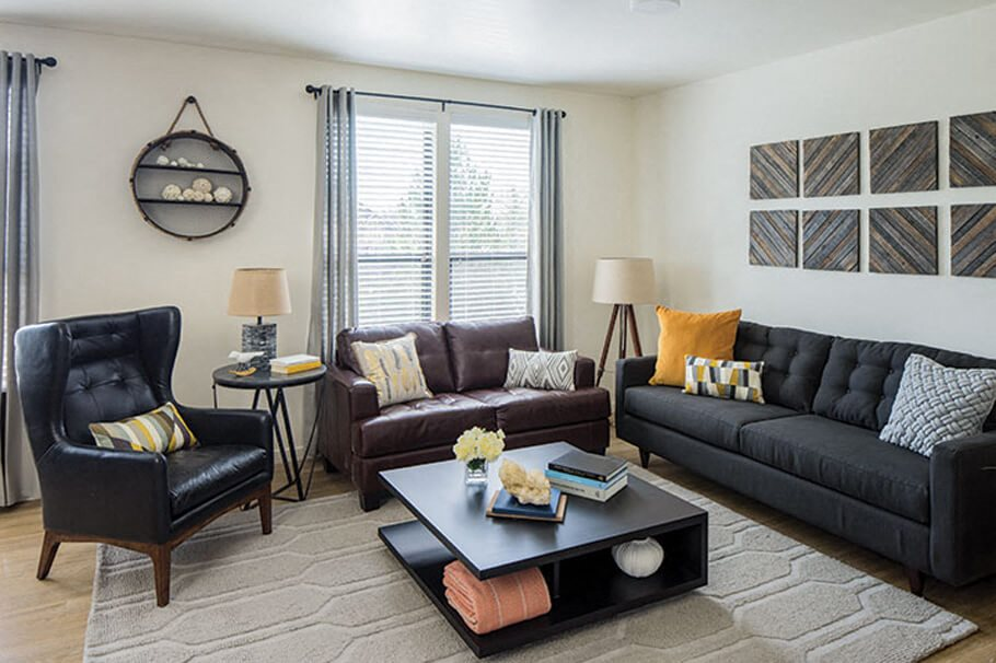 Gunbarrel Center  Furnished Interiors with  Tall Ceilings