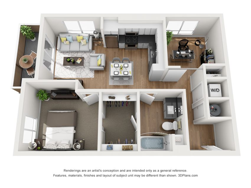 Indigo Apartments A4  3D Floor Plan