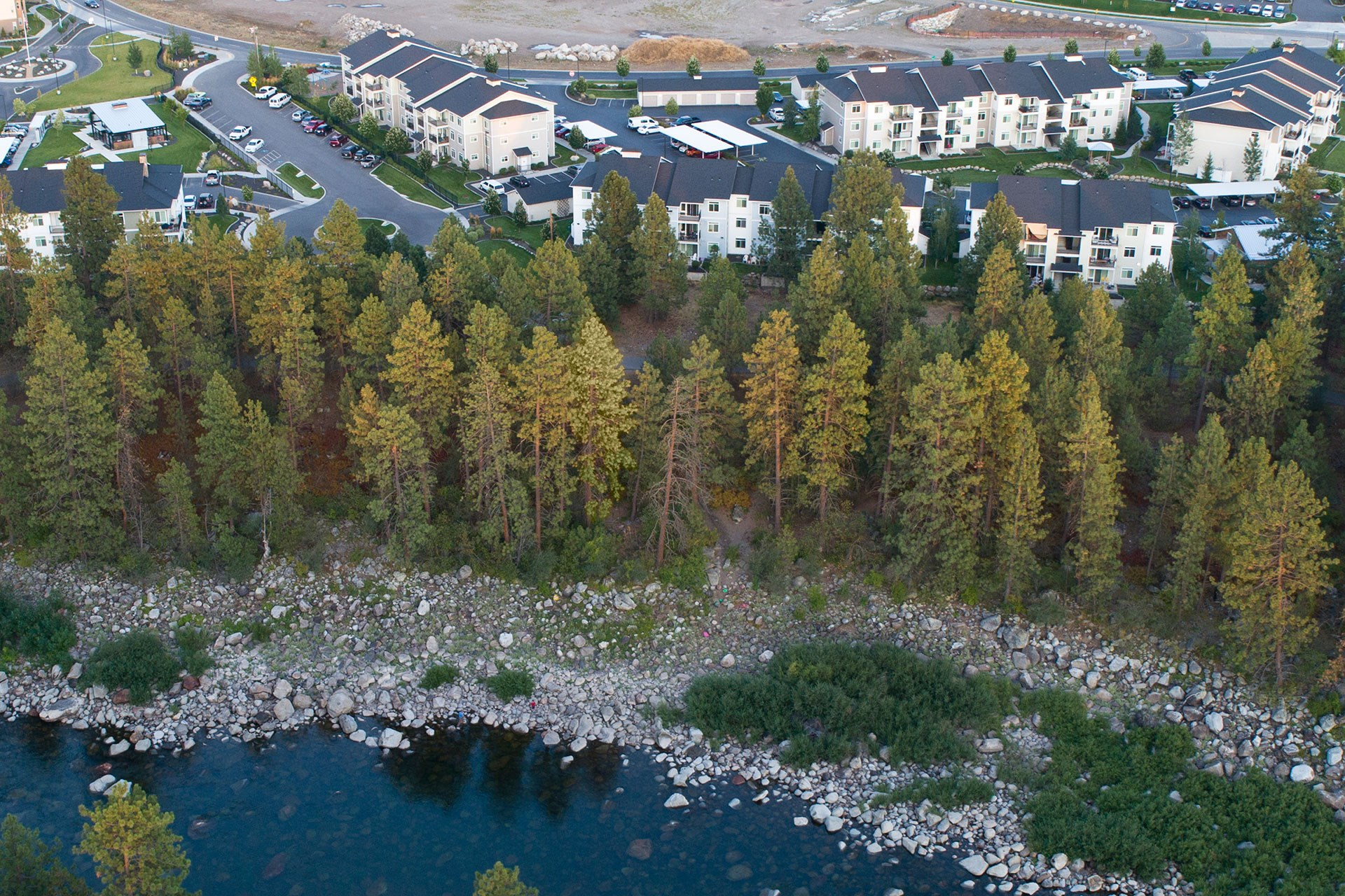 River House Apartments Spokane Valley, Washington Aerial View of Property