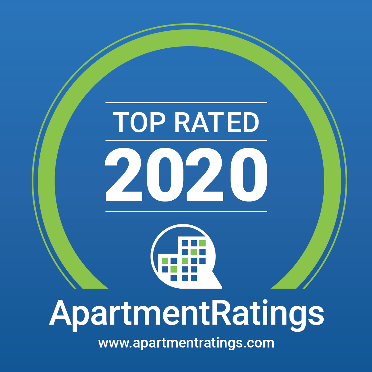 2020 Top Rated badge from Apartment Ratings