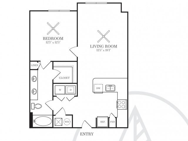 A7 - ATTACHED GARAGE | 741 SQ FT | 1 BED / 1 BATH