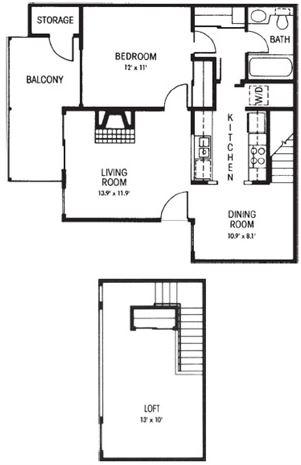 B1: 2 Bedroom - 1 Bathroom | 880 sq. ft.
