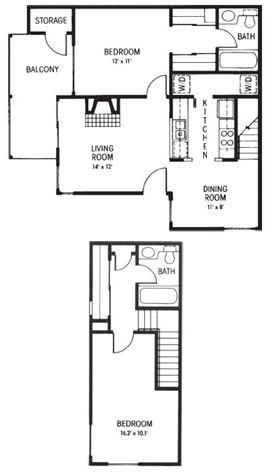 C1: 2 Bedroom - 2 Bathroom | 978 sq. ft.