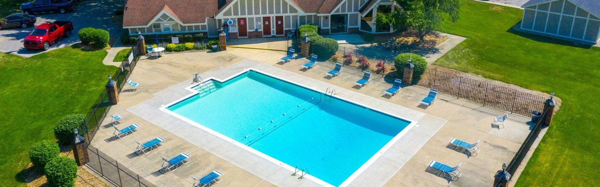 Sparkling Swimming Pool at Hickory Village Apartments, Mishawaka, IN