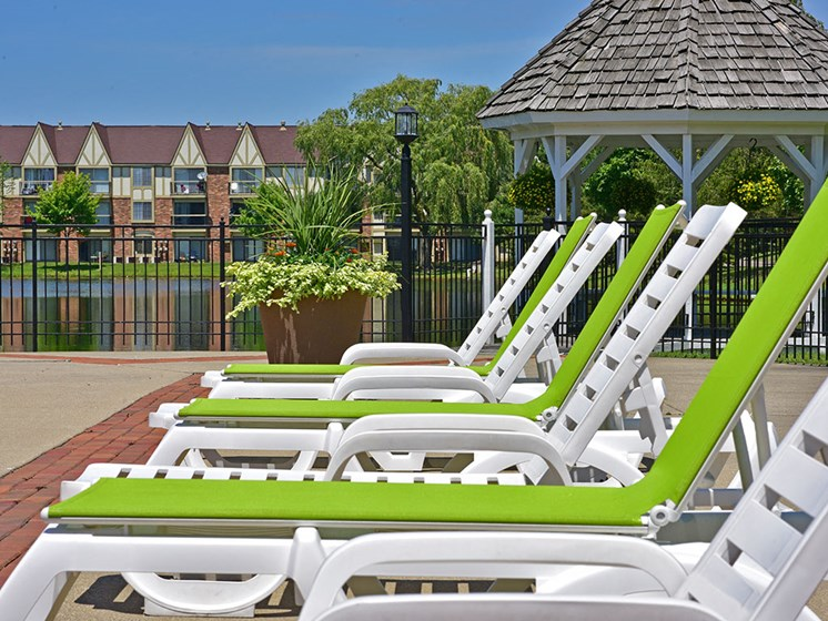 Poolside Lounge Chairs at Stone Ridge, Wixom, 48393