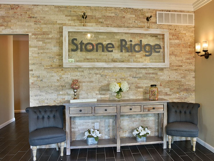 Entrance to Clubhouse at Stone Ridge, Michigan, 48393