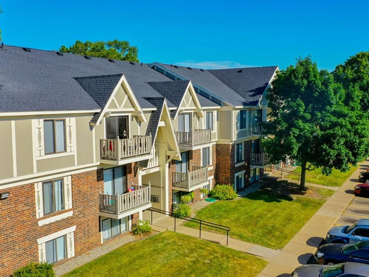 Aerial View Of The Property at Fairlane Apartments, Springfield, MI, 49037