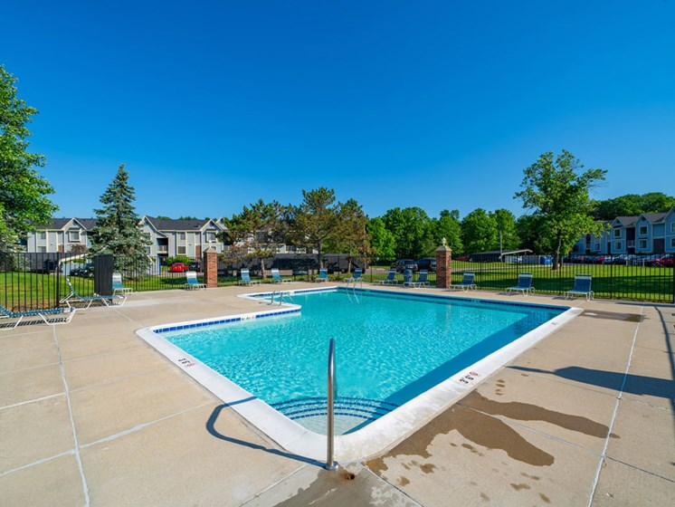 Outdoor Pool Access at Canal 2 Apartments, Lansing, MI