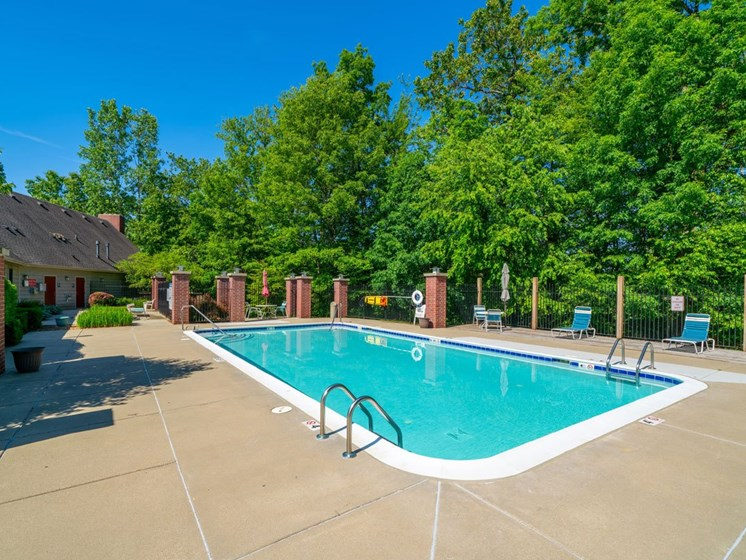 Refreshing Pool with Large Sundeck and Free Wi-Fi at Glenn Valley Apartments, Battle Creek, Michigan