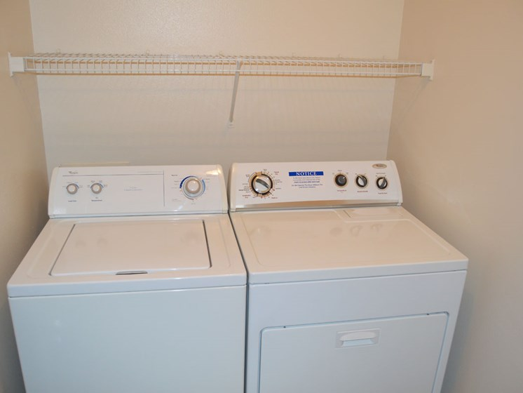 Full-size Washer and Dryer at Canal 2 Apartments, Lansing, Michigan