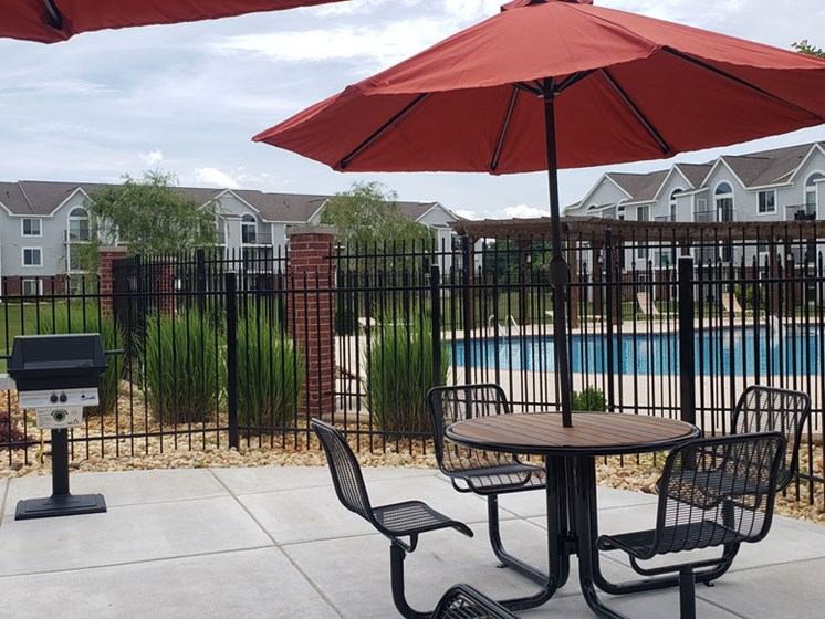 Grilling Stations at Limestone Creek Apartment Homes in Madison, AL