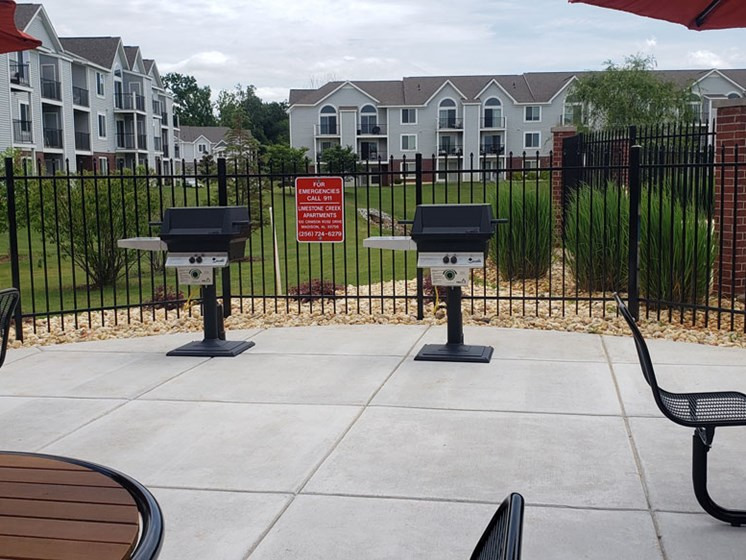 Multiple Grilling Stations at Limestone Creek Apartment Homes in Madison, AL