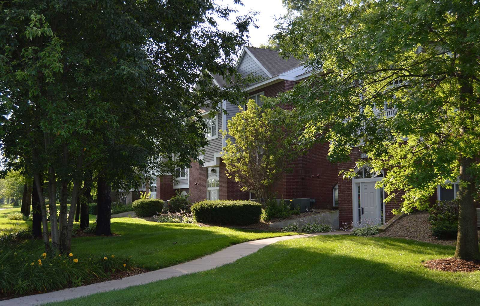 Maintained Landscaping at The Highlands Apartments, Indiana