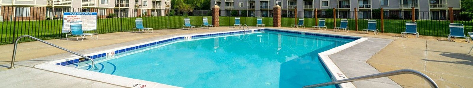 Glimmering Pool at Hurwich Farms Apartments, South Bend, IN, 46628