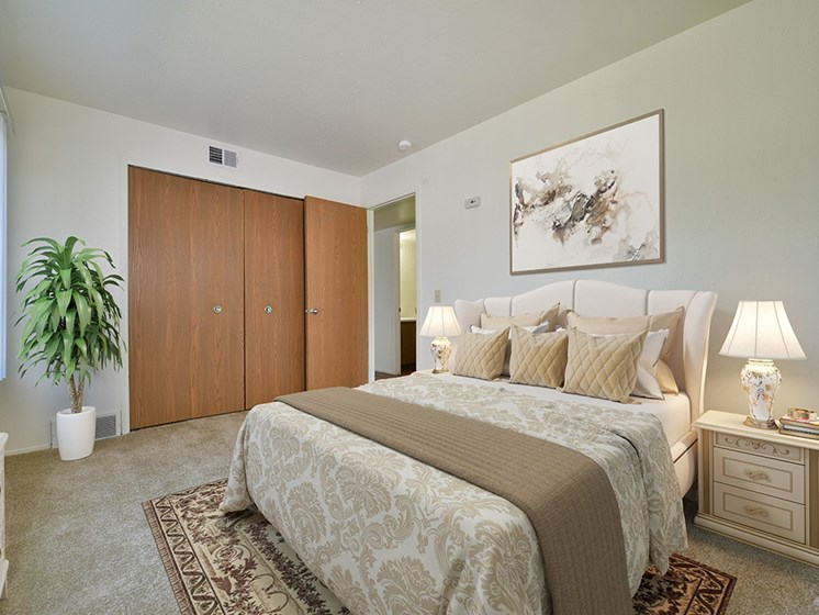 Gorgeous Bedroom at Huntington Place Apartments, Michigan