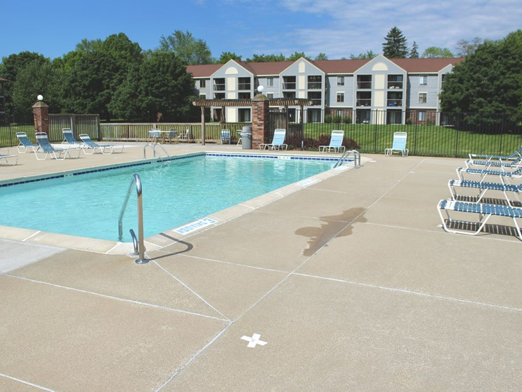 Large Outdoor Pool with Wi-Fi at Emerald Park Apartments in Kalamazoo, MI